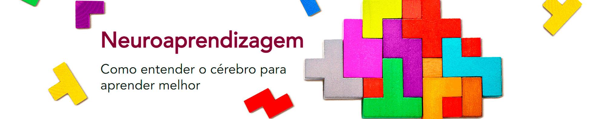 Um quebra-cabeça estilo tetris com o fundo em branco e o texto Neuroaprendizagem