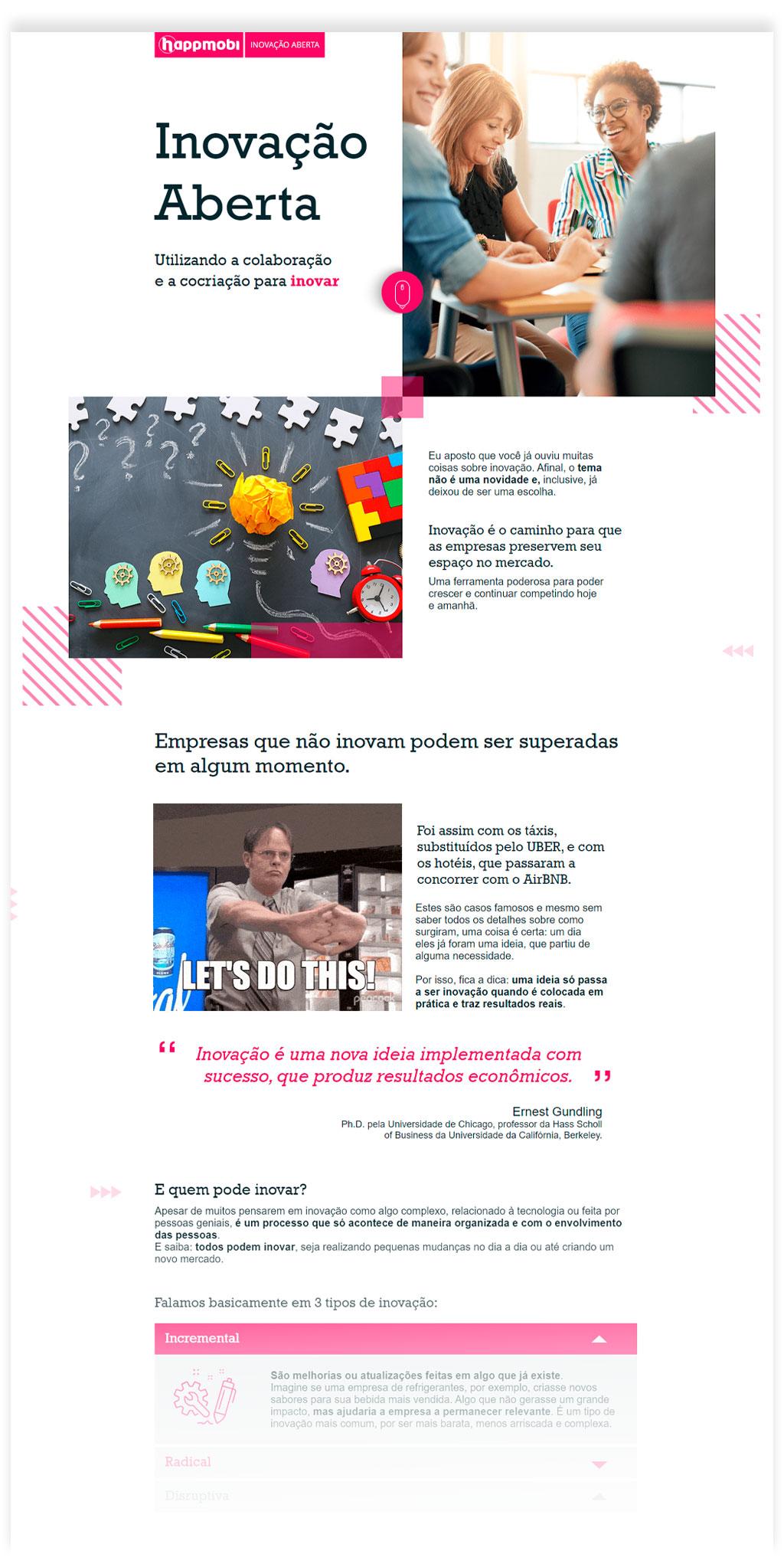 visual do curso inovação aberta happmobi